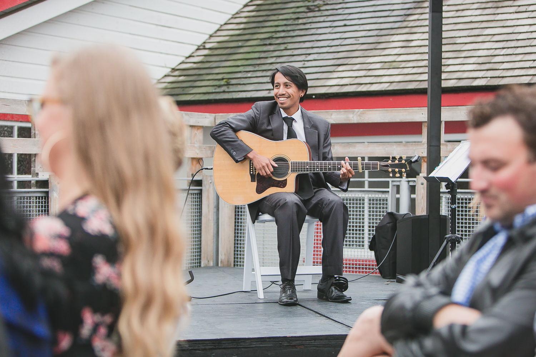 ruel morales guitarist at wedding ceremony vancouver