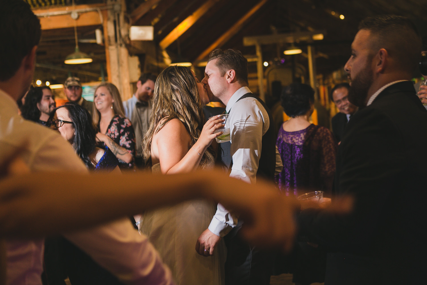 wedding reception dance party at georgia cannery in steveston