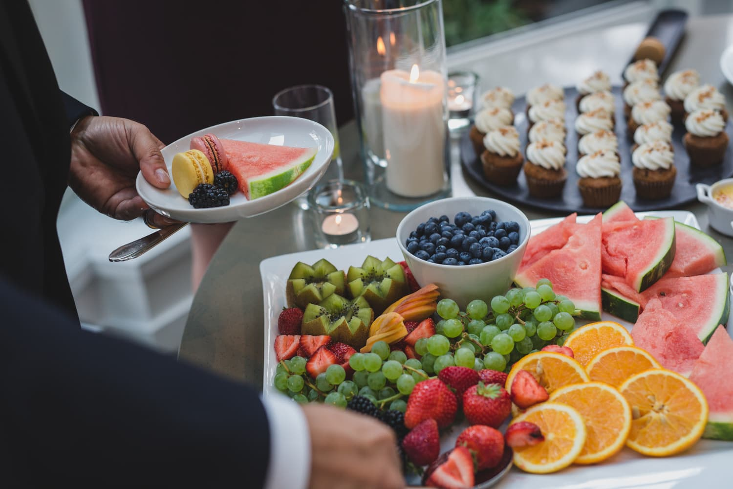 dessert table at vancouver club wedding