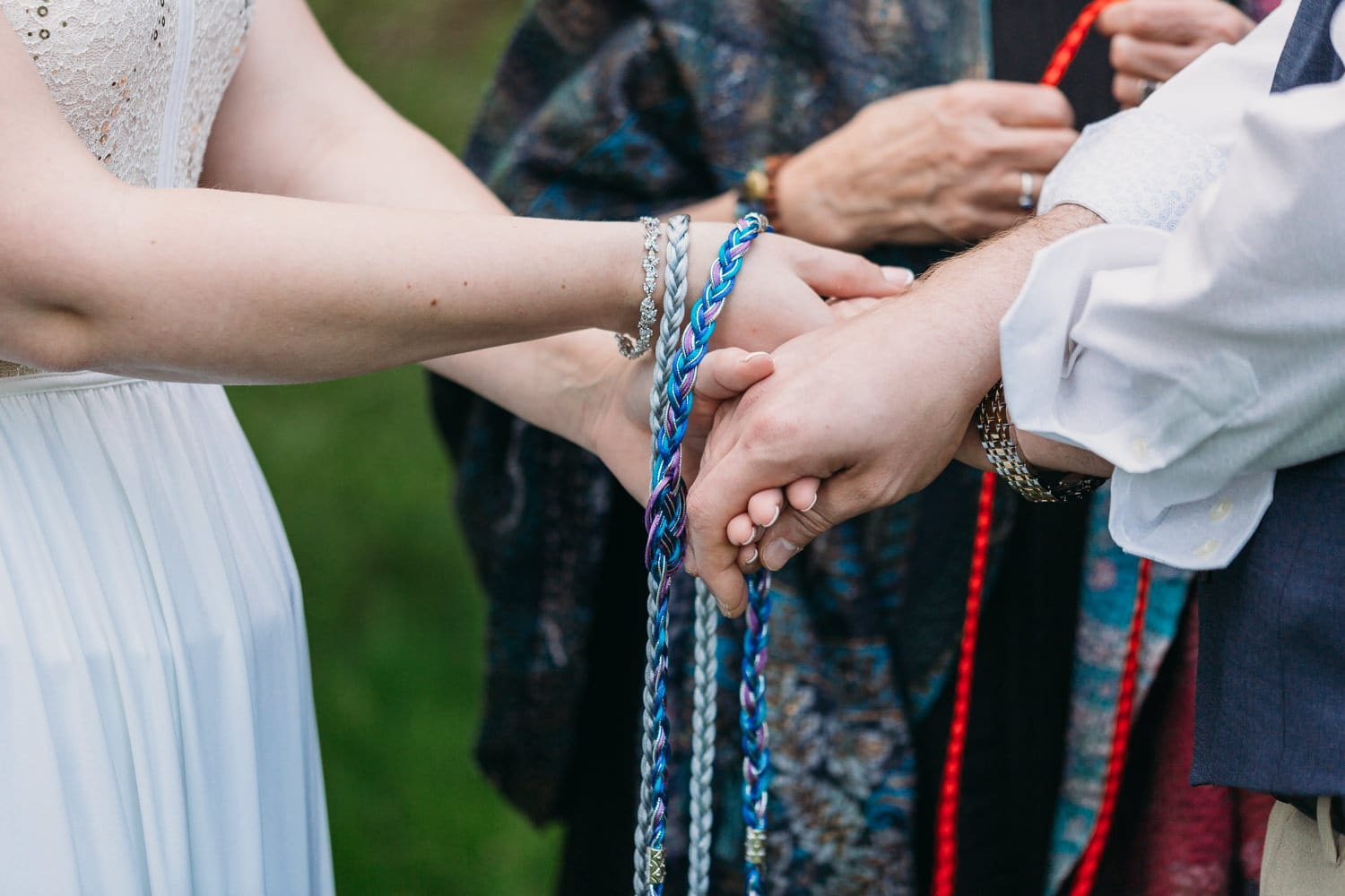 hand-fasting ceremony at campbell valley park elopement