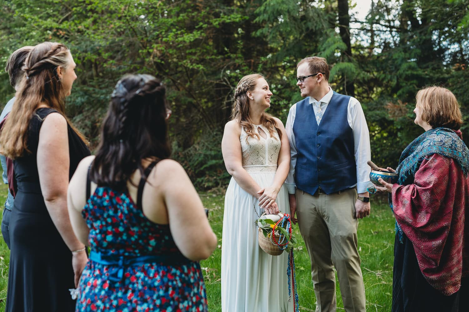 couple at pagan elopement ceremony vancouver