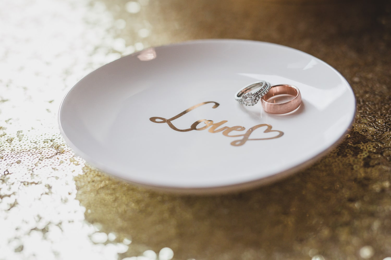 wedding rings detail