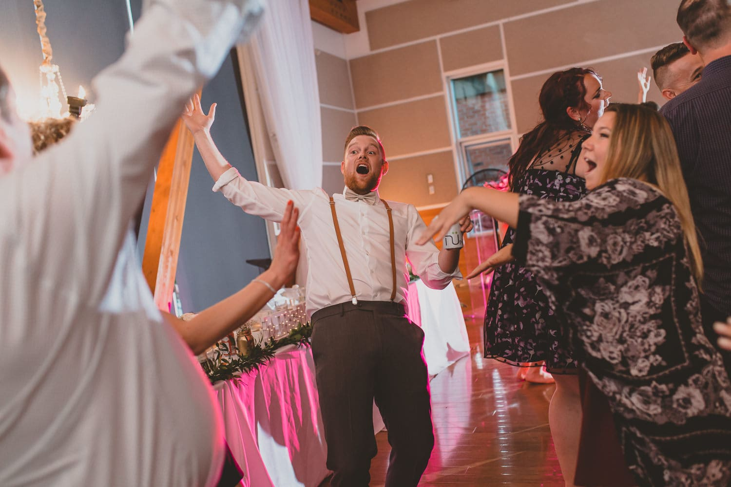 wedding reception dance party at south bonson community centre