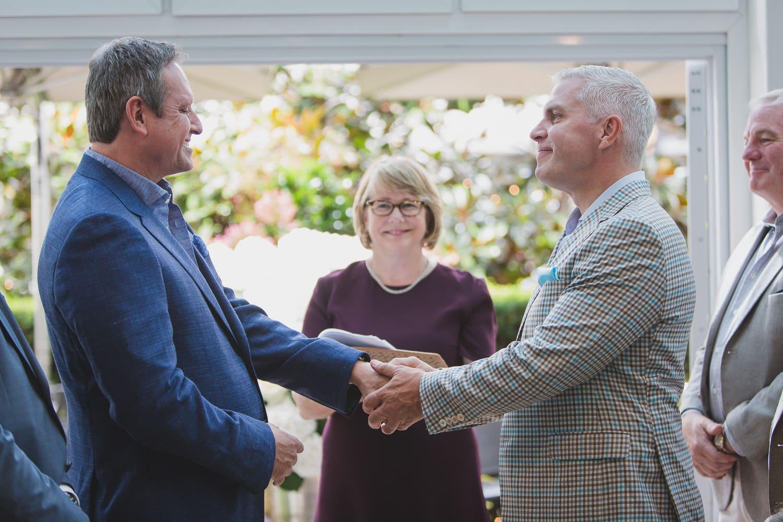 lgbtq wedding ceremony ring exchange in Vancouver