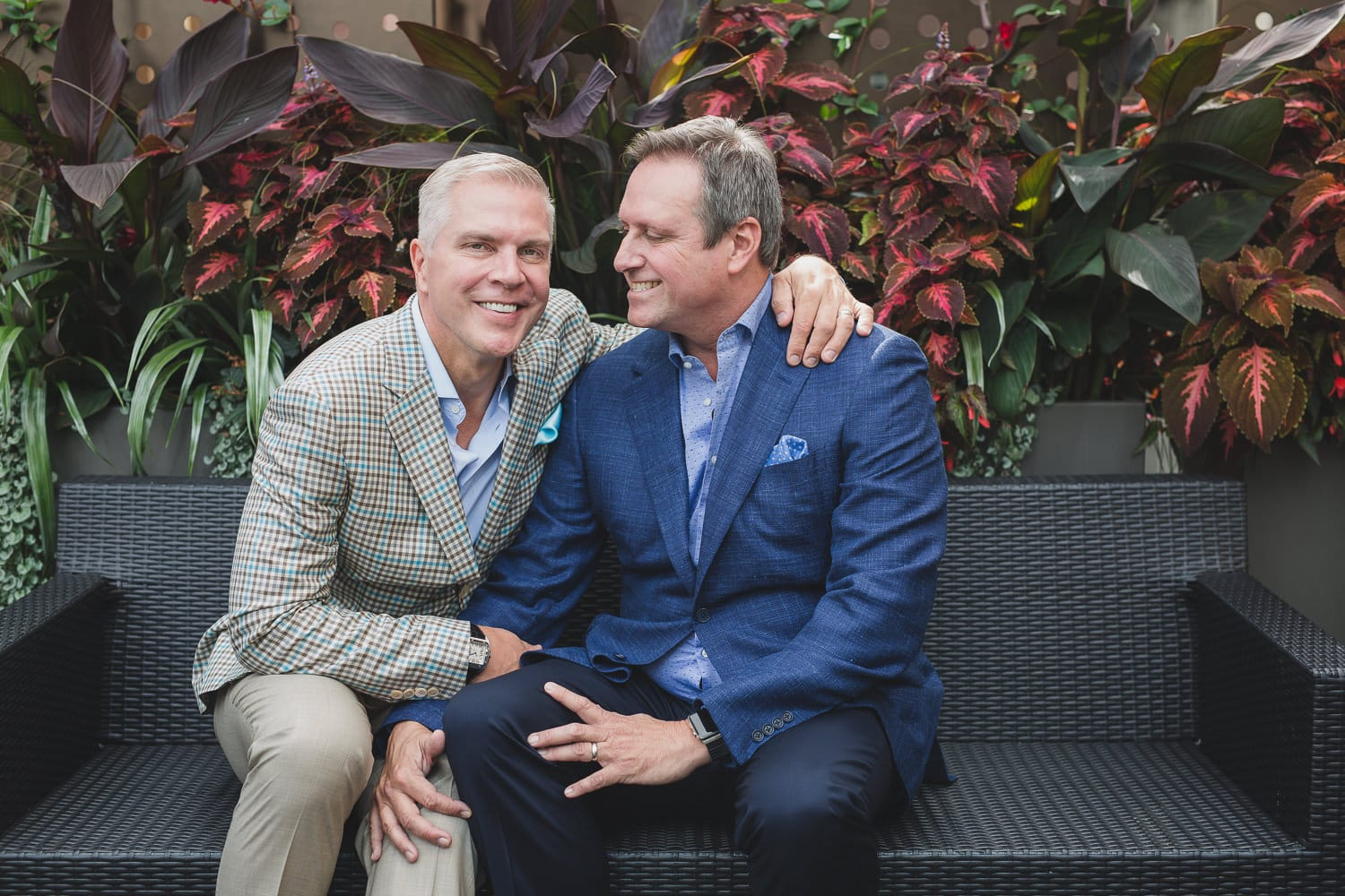 wedding couple portraits at lgbtq wedding in vancouver