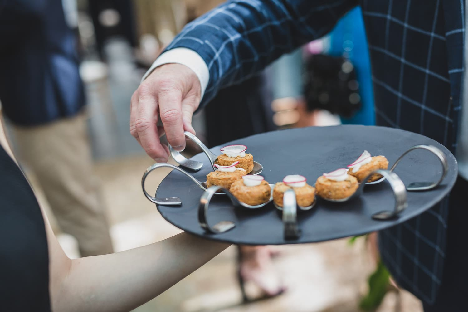 canape brunch at vancouver club wedding