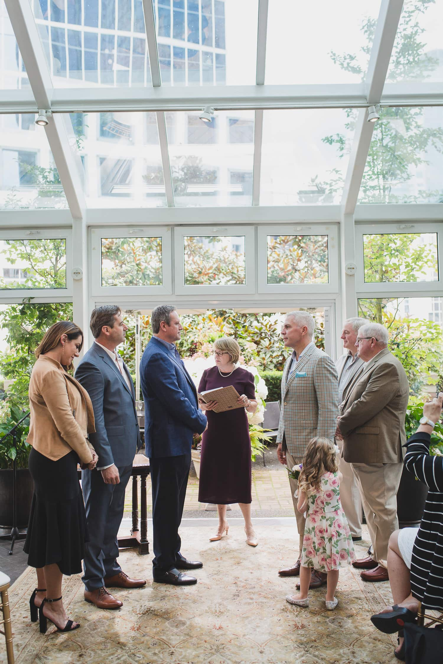 lgbtq wedding ceremony in Vancouver at the Vancouver Club