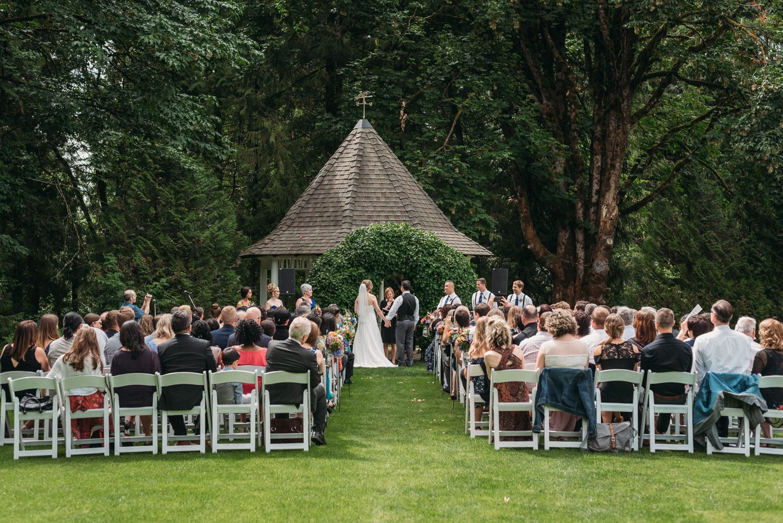 wedding ceremony space at heronsbridge weddings in abbotsford