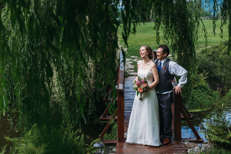 heronsbridge weddings couples portrait on bridge