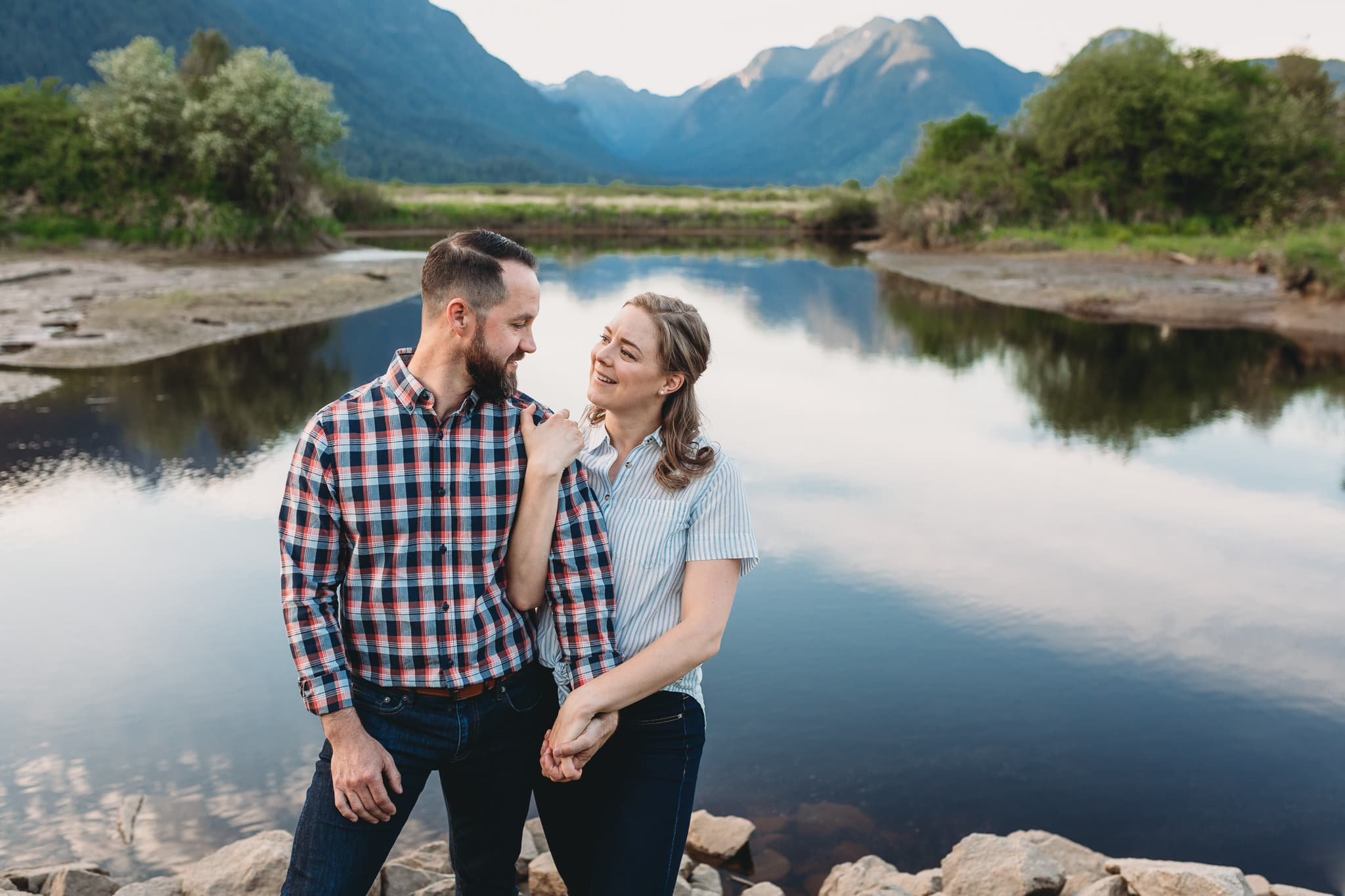 pitt meadows waterfront engagement session